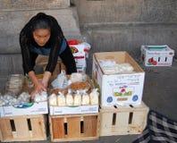 Chinatown Street Vendor, New York City stock photos