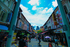 Chinatown. Sunny day at shopping center is at Chinatown in Singapore Stock Image