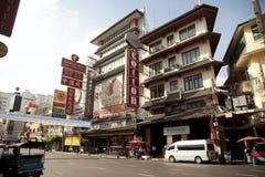 Chinatown of Thailand. BANGKOK,THAILAND - AUG 21,2016 : Road trafiic on Yaowarat, a famous Chinatown of Thailand on August 21, 2016 in Bangkok,Thailand. Yaowarat Stock Photo