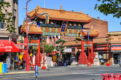 Chinatown in Victoria. Chinatown gates at the oldest Chinatown in North America, Victoria, British Columbia, Canada royalty free stock photography