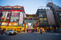 Chinatown in Yokohama city Japan Royalty Free Stock Photos