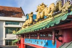 ChinatownKya Kya在苏拉巴亚 免版税库存照片