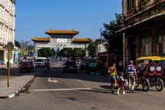 Chinatownmening in La Havana Stock Foto's