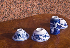Chinaware. China is the hometown of porcelain, porcelain invention of the Chinese nation's great contribution to world civilization, in English, porcelain (china Royalty Free Stock Photos