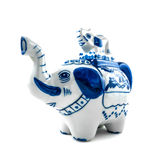 Chinaware Elephant figure teapot. Over white background Royalty Free Stock Photos