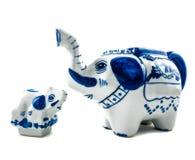 Chinaware Elephant figure teapot Royalty Free Stock Photos