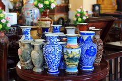 Chinaware. The image of the beautiful Chinaware are showing in the museum stock photo