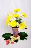Chinaware med flora Arkivbild