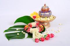 Chinaware med flora Arkivbilder