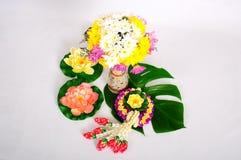 Chinaware met flora Royalty-vrije Stock Foto's