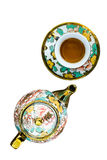 Chinaware tea pod and small drinking bowls Stock Image