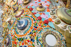 Chinaware. On wall in thailand stock photos