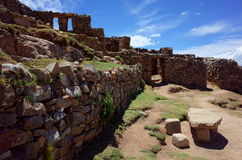 The Chincana Inca Ruins on the Isla del Sol on Lake Titicaca Royalty Free Stock Photos