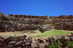 The Chincana Inca Ruins on the Isla del Sol on Lake Titicaca Royalty Free Stock Image