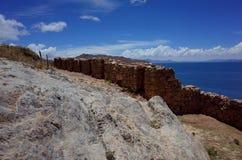 The Chincana Inca Ruins on the Isla del Sol on Lake Titicaca Stock Image