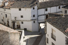 Chinchón - White houses of historic centre stock images