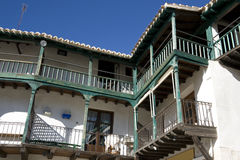 Chinchón - Typical balcony houses on Plaza Mayor Royalty Free Stock Photography