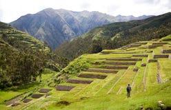 chinchero印加秘鲁废墟 免版税库存图片