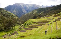 Chinchero, Incan Ruïnes, Peru Royalty-vrije Stock Afbeelding