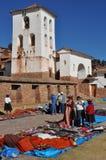 Chinchero Markt, Peru Lizenzfreie Stockfotos