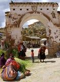 Chinchero outdoor market, Peru Royalty Free Stock Image
