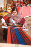 Chinchero traditional manufacture Royalty Free Stock Photo