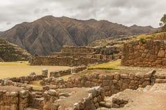 Chincheros fördärvar Cuzco Peru Arkivfoton