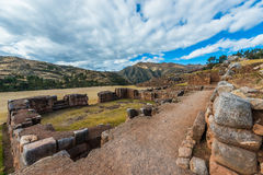 Chincheros ruins peruvian Andes  Cuzco Peru Stock Photo