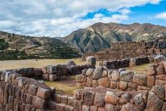 Chincheros ruins peruvian Andes  Cuzco Peru Stock Image