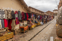 Chincheros rynek Cuzco Peru Fotografia Stock