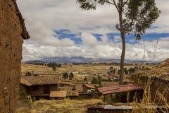 Chincheros stad Cuzco Peru Arkivbild