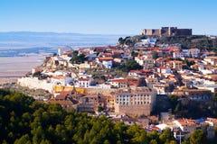 Chinchilla de Monte-Aragon with  castle. At hill.   Spain Stock Photo