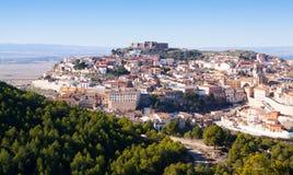 Chinchilla  from hill.  Albacete,. Spain Stock Image