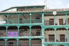 Chinchon, ισπανικός δήμος διάσημος για παλαιό μεσαιωνικό squar του Στοκ φωτογραφία με δικαίωμα ελεύθερης χρήσης