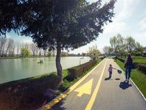 Chindia-Park Targoviste Rumänien Lizenzfreies Stockfoto