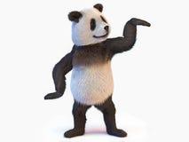 Chine centrale indigène d'ours panda d'animal terrestre identifiée par de grandes corrections noires distinctives autour des yeux Photo stock