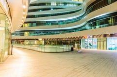 ¼ Œin Chine de viewï de nuit de SOHO de galaxie moderne d'architecture de Pékin beau Photos libres de droits
