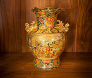 Chine vase gold Royalty Free Stock Photos