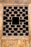 Chinees Azië, de traditionele architecturale stijl, de houten deuren en de vensters Royalty-vrije Stock Afbeelding