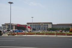Chinees, Azië, Peking, de Grote Zaal van de mensen Stock Foto