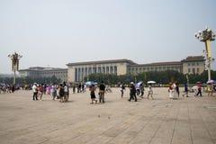 Chinees Azië, Peking, de Grote Zaal van de mensen Stock Afbeeldingen