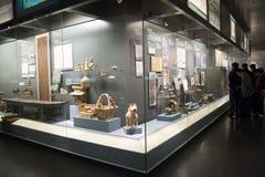 Chinees Azië, Peking, het hoofdmuseum, het oude kapitaal van historische en culturele tentoonstelling de van Peking, Royalty-vrije Stock Afbeeldingen
