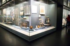 Chinees Azië, Peking, het hoofdmuseum, het oude kapitaal van historische en culturele tentoonstelling de van Peking, Royalty-vrije Stock Fotografie