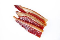 Chinees bacon stock afbeelding
