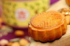 Chinees beroemd voedsel--De cake van de maan Stock Foto