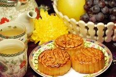 Chinees beroemd voedsel--De cake van de maan Stock Fotografie