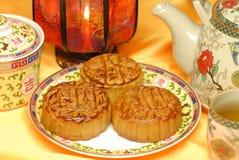 Chinees beroemd voedsel--De cake van de maan Royalty-vrije Stock Foto's