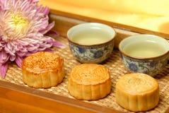 Chinees beroemd voedsel--De cake van de maan Stock Foto's