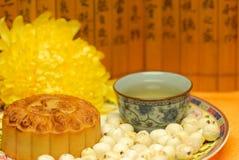 Chinees beroemd voedsel--De cake van de maan Stock Afbeeldingen