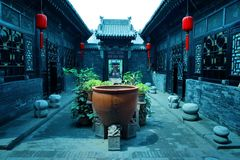 Chinees binnenplaatshuis Stock Foto's